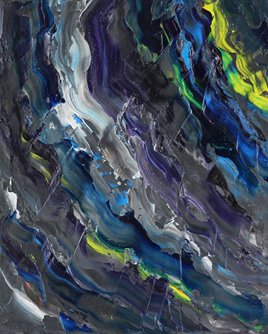 The greatest abstract oil paintings in the world. Flow, 2017